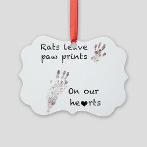 Paw Prints Picture Ornament