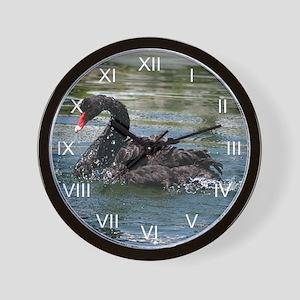 Black Swan Aqua Wall Clock