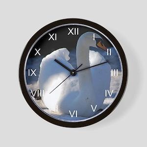 Mute Swan Winter Wall Clock