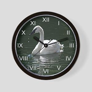 Trumpeter Swan Reflecting Wall Clock