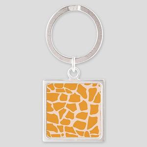Orange Giraffe pattern Keychains