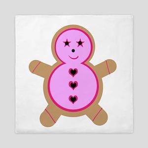 Pink Gingerbread Cookie Queen Duvet