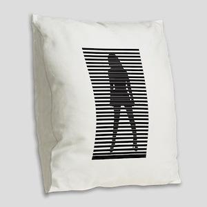 Erotic Silhouette - Sexy Woman Burlap Throw Pillow