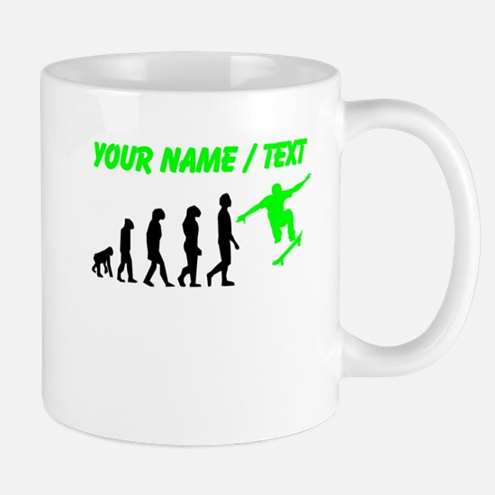 Custom Skateboard Evolution (Green) Mugs