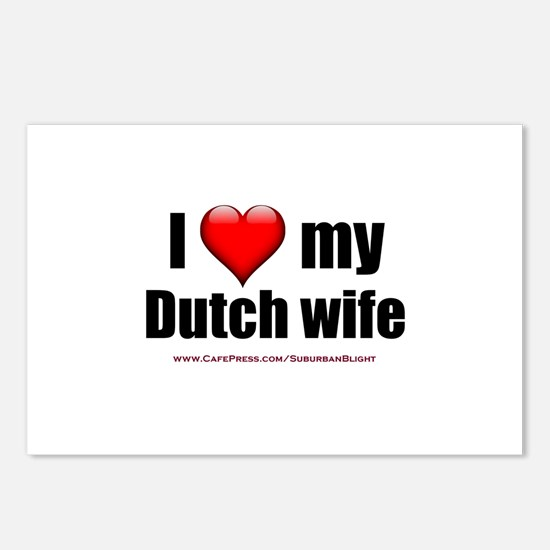 """""""Love My Dutch Wife"""" Postcards (Package of 8)"""