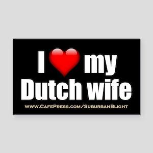 """Love My Dutch Wife"" Rectangle Car Magnet"