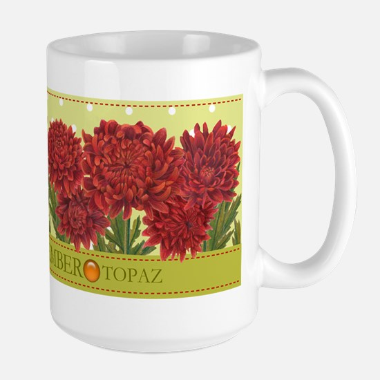 Birth Flower And Gem November Large Mug