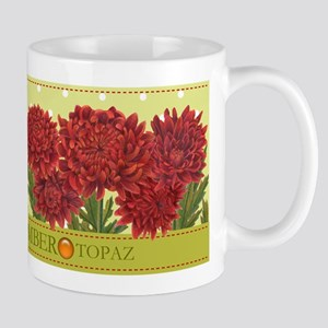 Birth Flowers and Gem Mug November