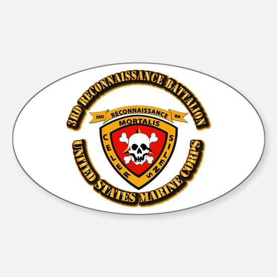 SSI - 3rd Reconnaissance Bn With Text USMC Decal