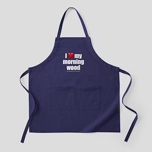 """Love My Morning Wood"" Apron (dark)"