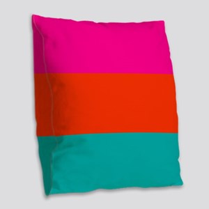 Bold And Bright Colorful Burlap Throw Pillow