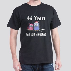 46th Anniversary Snuggling Owls Dark T-Shirt