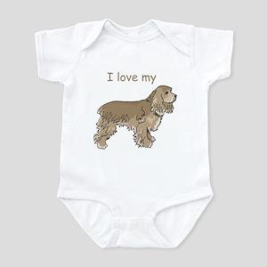 I love my Cocker Infant Bodysuit