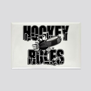 Hockey Rules Rectangle Magnet