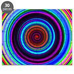 Neon Retro Spiral Circle Pattern Puzzle