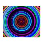 Neon Retro Spiral Circle Pattern Throw Blanket