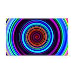 Neon Retro Spiral Circle Pattern Wall Decal