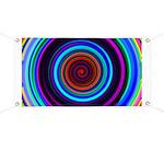 Neon Retro Spiral Circle Pattern Banner