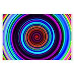 Neon Retro Spiral Circle Pattern Posters