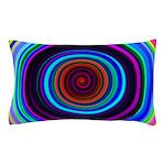 Neon Retro Spiral Circle Pattern Pillow Case