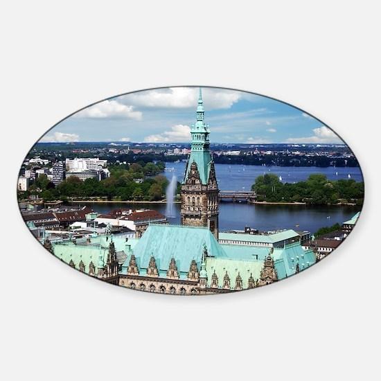 Hamburg Townhall Sticker (Oval)