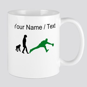 Custom Baseball Fielder Evolution (Green) Mugs