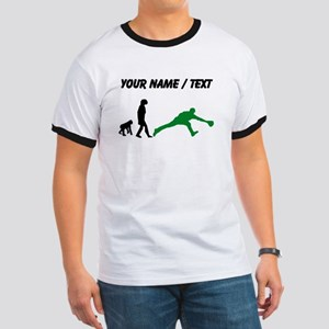 Custom Baseball Fielder Evolution (Green) T-Shirt