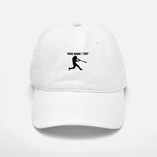 Custom Baseball Batter Silhouette Baseball Baseball Cap