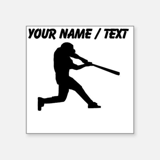 Custom Baseball Batter Silhouette Sticker