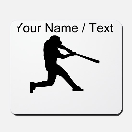 Custom Baseball Batter Silhouette Mousepad