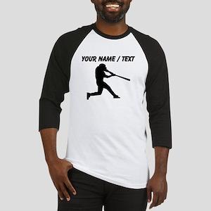 Custom Baseball Batter Silhouette Baseball Jersey