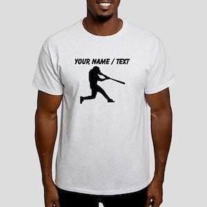 Custom Baseball Batter Silhouette T-Shirt