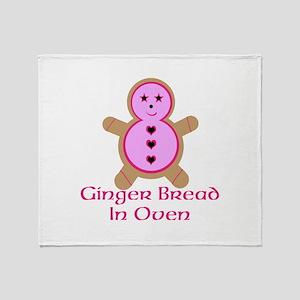 Ginger Bread In Oven Throw Blanket