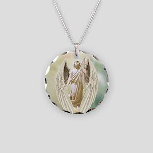Angel Gabriel Necklace Circle Charm