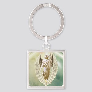 Angel Gabriel Square Keychain