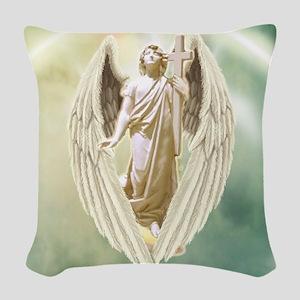 Angel Gabriel Woven Throw Pillow