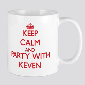 Keep Calm and Party with Keven Mugs