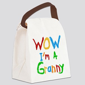 WOW I'm a Granny Canvas Lunch Bag