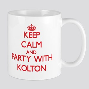 Keep Calm and Party with Kolton Mugs