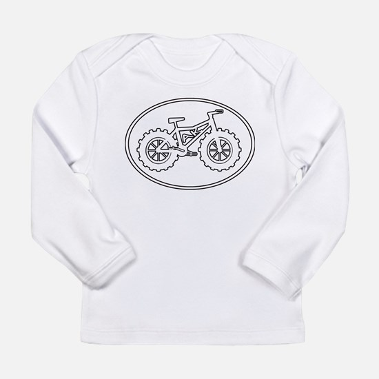 Fatbike AK white with black outline Long Sleeve T-