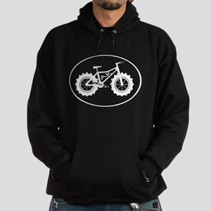 Fatbike AK white with black outline Hoodie