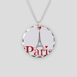 I love Paris Necklace Circle Charm