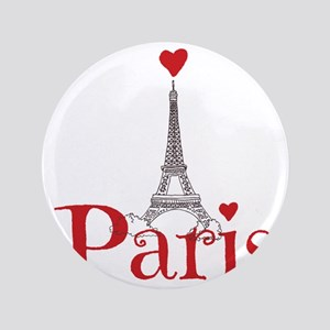 "I love Paris 3.5"" Button"