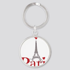 I love Paris Round Keychain