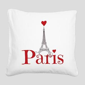 I love Paris Square Canvas Pillow