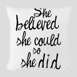 Believed Woven Throw Pillow