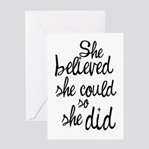 Motivational gifts cafepress believed greeting cards m4hsunfo