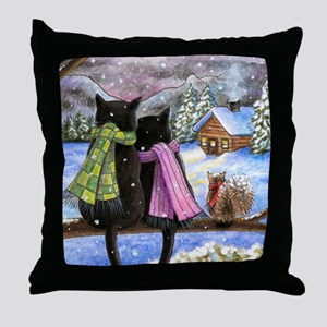 cat 585 Throw Pillow