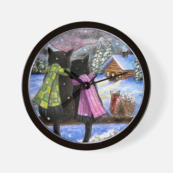 cat 585 Wall Clock