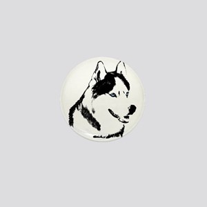 Siberian Husky Buttons Pins Sled Dog Mini Buttons